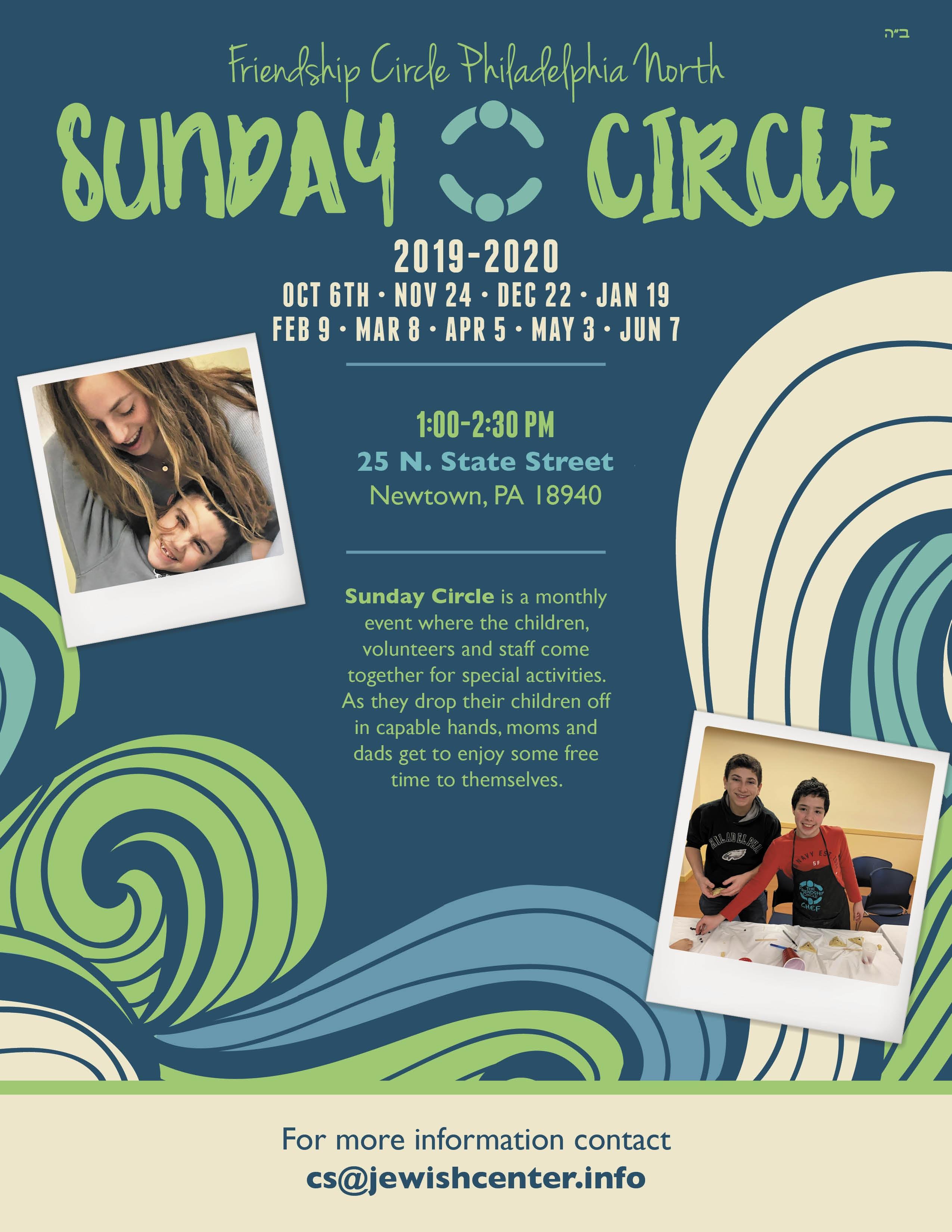 Sunday Circle Dates 2019-2020